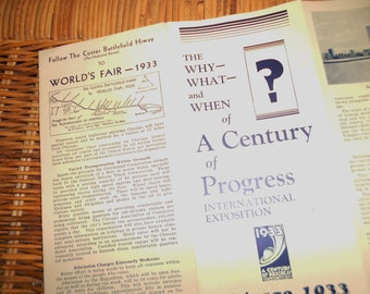 Chicago 1933 World's Fair a Century of Progress International Exposition Pamphlet booklet