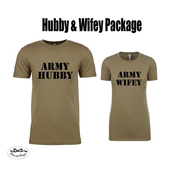 Army Hubby and  Army Wifey Shirts, Husband and Wife Shirts, Just Married Shirts, Couples Shirts, Hubby Shirt, Wifey Shirt, Army Wife, Army