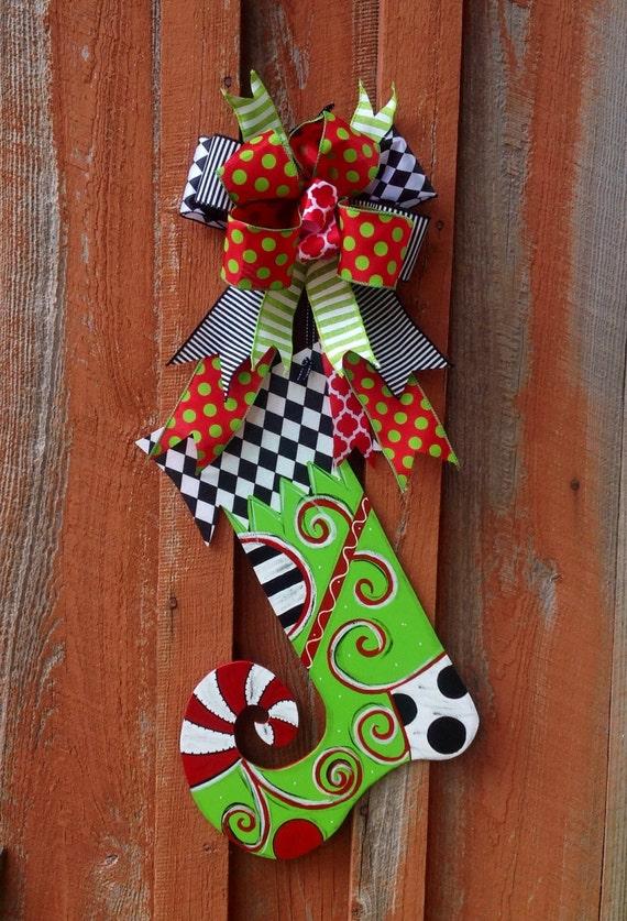 Free shipping christmas stocking door hanger front decor