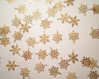 144 Goldplated Snowflakes