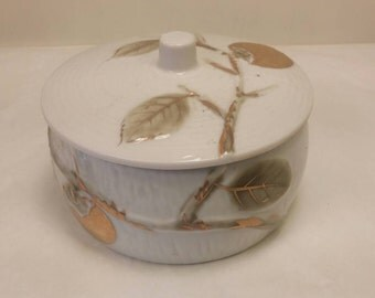 ANDREA by SADEK BOWL with Lid Vintage Jewelry Bowl Dish