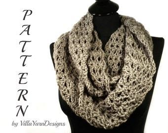 Crochet Infinity Scarf Pattern, Crochet Cowl Pattern, Scalloped Edge, Neckwarmer Pattern, Crochet Scarf, Crochet Infinity Scarf  #107