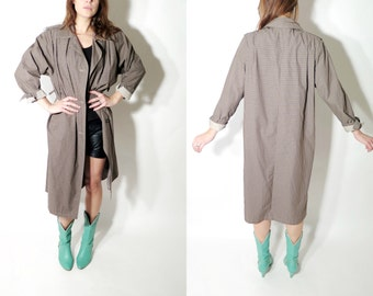Vintage Bevell Duster Coat / Trench Coat Size 32