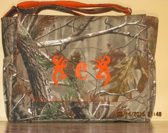 Handmade Realtree Or Mossy Oak Diaper Bag with Free Embroidery!