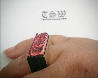 "RING Custom STAMP .5x1"" Laser Cut and Engraved Stamps You Design your own stamp on Rubber"
