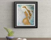 Angel of Light Signed Original Art Print By Rafi Perez