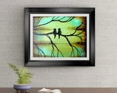 Little Love Birds Signed Art Print of Signature Original By Rafi Perez