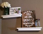 Reclaimed wood sign - baby room - hand painted - rustic nursery