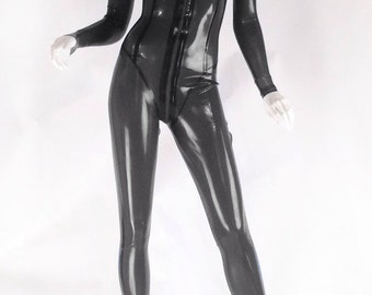 Latex Rubber Catsuit with scoop neck line by VEX - Moderne Catsuit