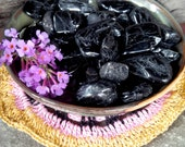Set of 2 Black Tourmaline Crystals -Tumbled Gemstones -Reiki charged, Protection, Banishes Negative Energy, Aura Shield, Grounding, Healing