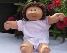 Vintage Cabbage Patch Kids girl Brown hair Doll, Cabbage patch doll, Brown eye doll, Yarn pigtails, Yarn hair doll,