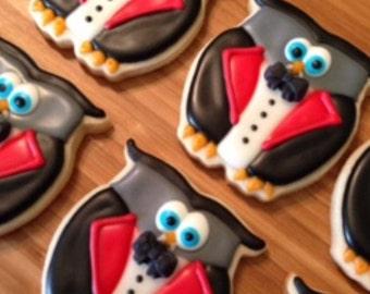 Vampire owl sugar cookies