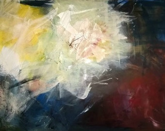 """Abstract 30""""x40"""" Acrylic on canvas by Lisa Schulaner"""