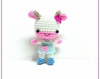 Crochet Amigurumi, Crochet Animal, Amigurumi animal,Crochet doll, Amigurmi in handmade Amigurumi Cow