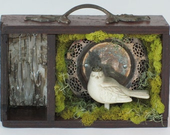 Up-cycled Assemblage Primitive Shrine, Meadowlark