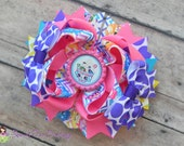 Shopkins Frozen Yogurt Stacked Hair Bow - by Sweet Tea Bowtique