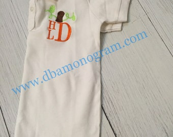Boys Stack Monogrammed Pumpkin Polo