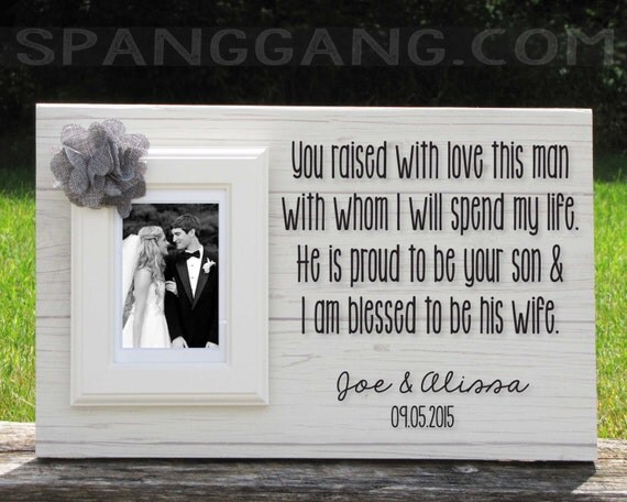 Wedding Thank You Gift For Mom : Wedding gift for parents of the Groom gift by SpangGangDesigns