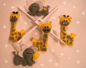 Baby Crib Mobile - Music Baby Mobile - Felt Mobile - Nursery mobile - Funny elephants and giraffes