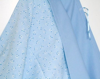 Toddler Duvet Cover, Baby Quilt Cover, Baby Boy Bedding, Blue Cot Bedding, Baby Girl Bedding, Gender Neutral Nursery Bedding