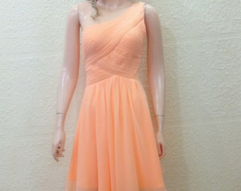Peach Dress. Bridesmaid Dress. Evening Dress