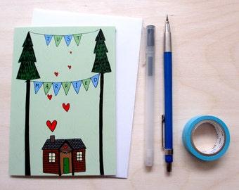 Greetings card 'Just Married' A6 Digitally printed