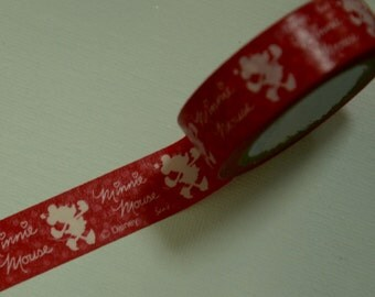 1 Roll of Japanese Washi Tape Roll-  Minnie Mouse