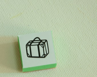A Mini Rubber Stamp -Suitcase