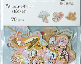 A Pack of 70 pcs 10 Designs Stickers Seal : Girly Items