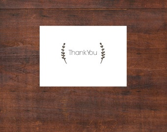 Printable Thank you cards; Wedding thank you cards; Customized Wedding Stationery
