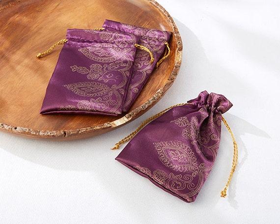 Indian Wedding Gift Bags: Purple Favor Bags Indian Style Favors Moroccan Style Favors