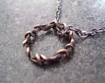 CROWN OF THORNS Pendant - Spiritual Jewelry, Copper Jewelry, Jesus Pendant, Unisex Pendant, Religious Pendant, Christian Jewelry, Copper