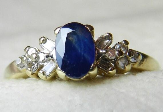 sapphire ring genuine blue sapphire engagement ring genuine. Black Bedroom Furniture Sets. Home Design Ideas
