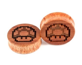 Handmade 1up Canarywood plugs