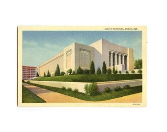 Joslyn Memorial, Omaha Nebraska - Vintage Postcard
