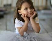 Baby Gray Tutu Skirt