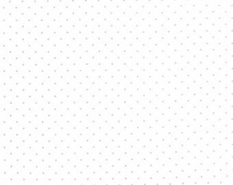 Moda - Modern BG Paper by Zen Chic Pindot in Silver/White 1588-13