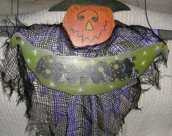 Pumpkin Witch door or wall hanger