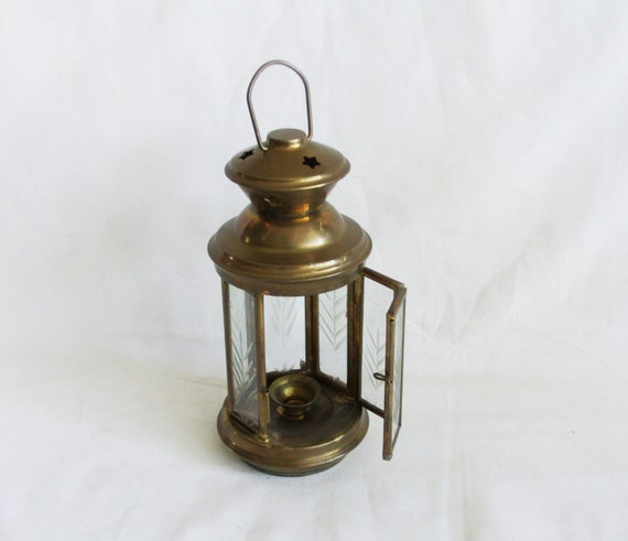hanging candle lanterns hanging lantern vtg brass tealight candle holder porch patio 28607