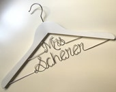 Hanger Deluxe Mrs,Mr on Top, Personalized Custom Bridal Hanger, Brides Hanger, Bride, Name Hanger, Wedding Hanger, Personalized Bridal Gift