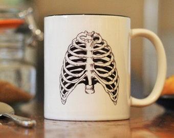 Anatomical Ribcage - Illustration - 10oz Cup