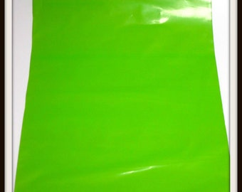 """50 9""""x12"""" Lime Green Poly Mailer Envelopes with Optional Labels"""
