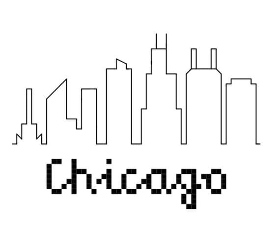 city skyline outline simple - photo #16