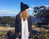 Women's fall fashion winter hats skull caps beanies unisex toque accessories crochet chunky knit handmade hat