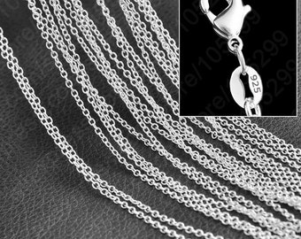 925 Sterling Silver Filled Chain with Lobster clasp -16'' - 22 inch -925 stamped -Wholesale 925 necklace Chain-