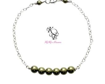 Bridesmaid Bracelet, Bridal Bracelet, Sterling Silver Bracelet, Wedding Jewelry, Pearl Bracelet, Bridesmaid Jewelry, Bridal Jewelry, Wedding