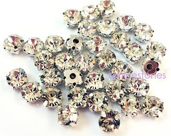 6mm Sew On Crystal 100pcs