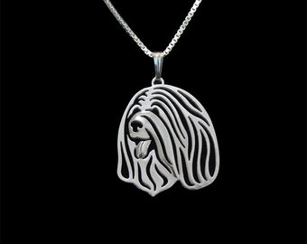 Tibetan Terrier - sterling silver pendant and necklace