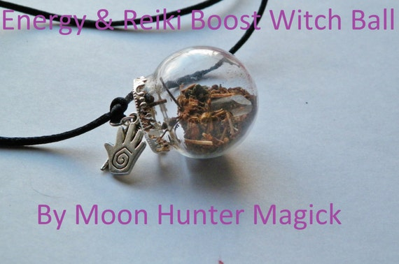 Energy Boost Reiki Power Mini Witch Ball Witch Bottle Pagan Wicca