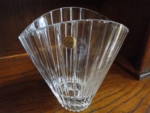 Unique Cristal D Arques Crystal Vase France Large